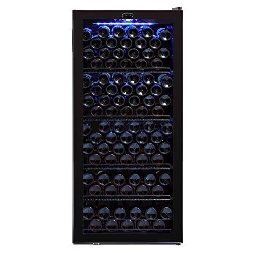 Whynter FWC-1201BA 124 Bottle Freestanding Wine Refrigerator, Black