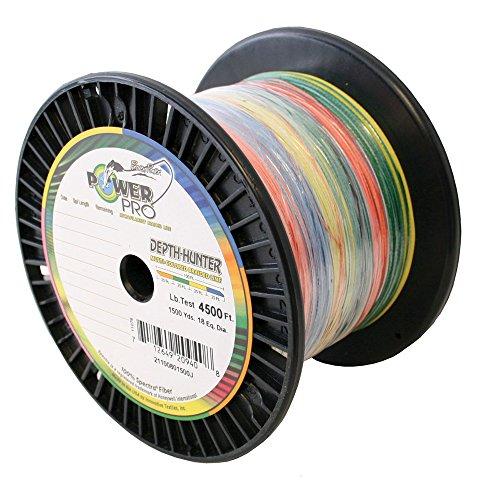 PowerPro Power Pro 1500 Yard Depth-Hunter Metered Line (100-Pound) Blue/Yellow/Green/Orange