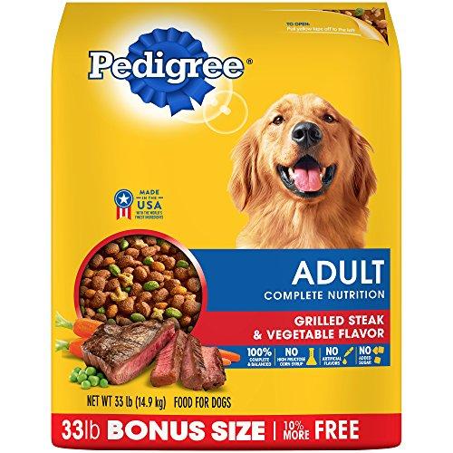 PEDIGREE Adult Complete Nutrition Grilled Steak & Vegetable Flavor Dry Dog Food 33 Pounds