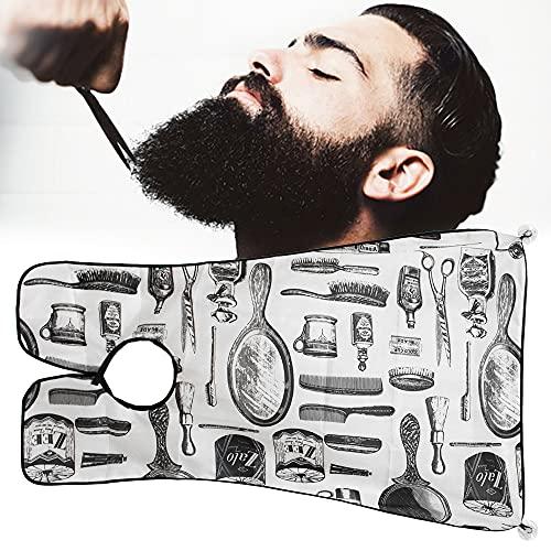 Beard Bib Beard Apron, Beard Hair Catcher for Shaving, Beard Apron Catcher for Grooming Trimming, Best Gifts for Men (Shaving)