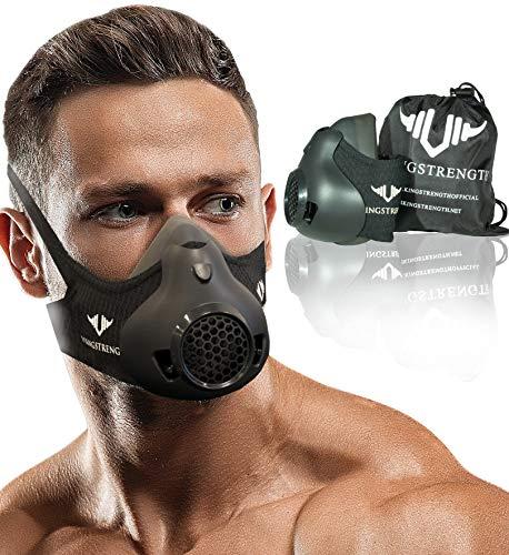 Vikingstrength New 24 Levels Workout Mask for Running Biking MMA Endurance with Adjustable Resistance, High Altitude Elevation Mask for Air Resistance Training (Improved Design)