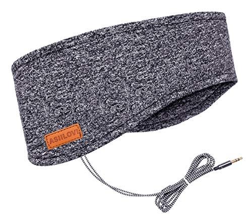 ASIILOVI Sleep Headphones & Ear Warmers Headband Headphones & Ear Muffs Ear Covers with Ultra-Thin HD Stereo Speakers for Outdoor Sports Running Nap Sleeping ASMR & Daily Wear
