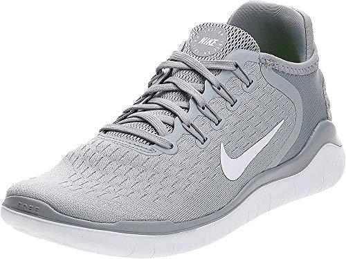 Nike Women's Free RN 2018 Running Shoe (8.5 M US, Wolf Grey/White/Volt)