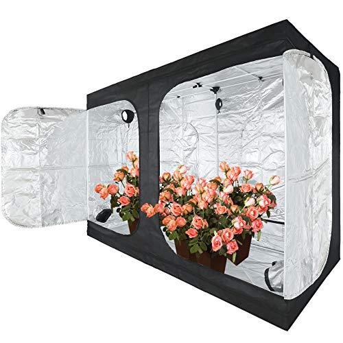 JT Jupetory Grow Tent 96'x48'x80' 8x4 2x2 4x4 4x2 Mylar Hydroponic Grow Tent with Removable Floor Tray for Indoor Plant Growing Garden Growing Dark Room(96x48x80 cm)