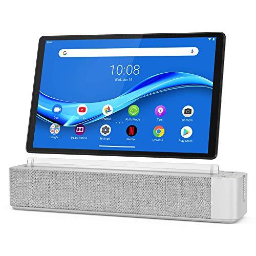 Lenovo Smart Tab M10 Plus, FHD 10.3' Android Tablet, Alexa-Enabled Smart Device, Octa-Core Processor, 64GB Storage, 4GB RAM, Wi-Fi, Bluetooth, ZA6M0017US, Platinum Grey
