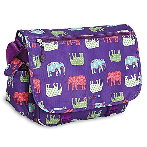 J World New York Terry Messenger Bag, Elephant, One Size