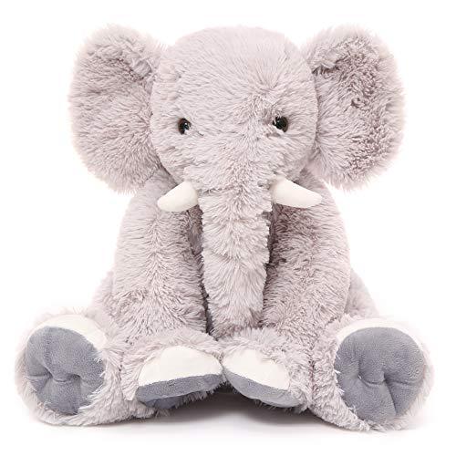 Toys Studio 19.6 Inch Stuffed Elephant Animal Soft Giant Elephant Plush Gift for Baby, Girls, Boys (Gray)