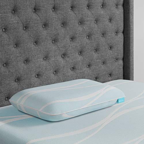 Tempur-Pedic TEMPUR-Breeze Cooling ProLo Memory Foam King Pillow, Queen, White