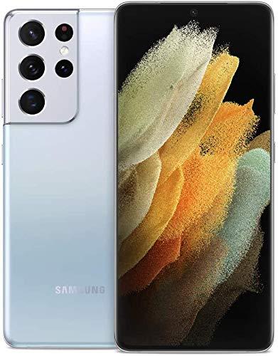 SAMSUNG Galaxy S21 Ultra G998U 5G | Fully Unlocked Android Smartphone | US Version 5G Smartphone | Pro-Grade Camera, 8K Video, 108MP High Resolution | 128GB - Phantom Silver (Renewed)