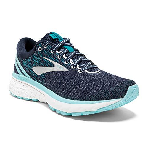 Brooks Womens Ghost 11 Running Shoe - Navy/Grey/Blue - B - 7.5