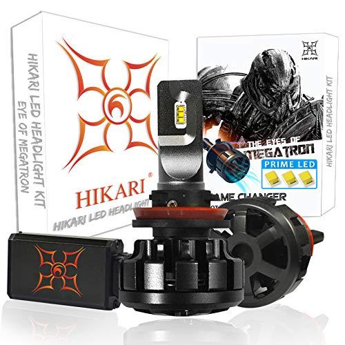 HIKARI Ultra LED Headlight Bulbs Conversion Kit -H11(H8,H9), Prime LED 12000lm 6K Cool White