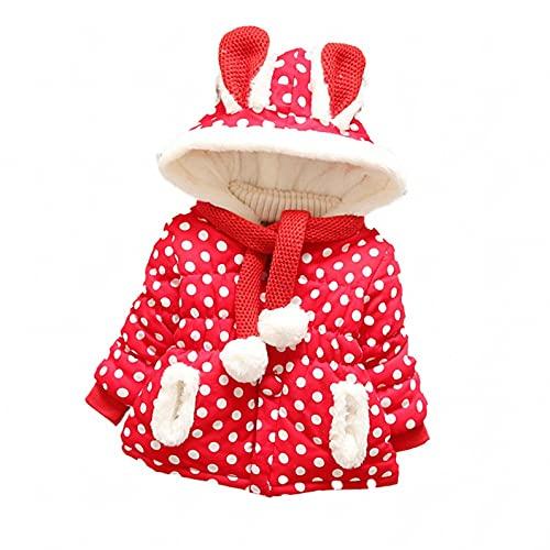 Baby Boys Girls' Rabbit Ear Winter Coats Fleece Lined Hood Jackets Thick Warm Windproof Jackets Coat with Scarf