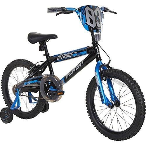 Dynacraft Boys Nitrous Bike, Black/Blue, 18', Black/Blue