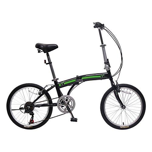 IDS Home unYOUsual U Transformer 20' Folding City Bike Bicycle 6 Speed Shimano Gear Frame Mudguard Rear Carrier Front Rear Wheel Reflectors (Black)
