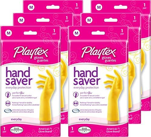 Playtex Hand Saver Gloves, Medium, 6Count