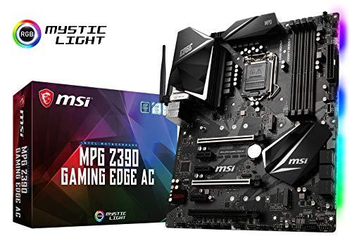 MSI MPG Z390 Gaming Edge AC LGA1151 (Intel 8th and 9th Gen) M.2 USB 3.1 Gen 2 DDR4 HDMI DP Wi-Fi SLI CFX ATX Z390 Gaming Motherboard