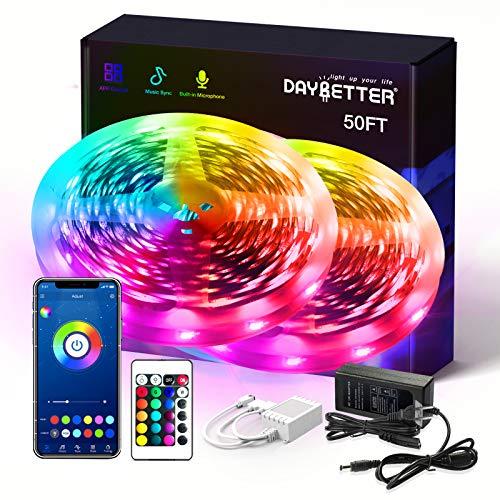 Daybetter SMD 5050 App Control Smart Led Strip Lights- 50ft