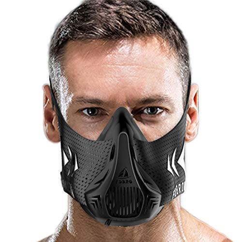 C C fashion Breathing Mask - High Altitude Simulation Elevation Mask. Increase Cardio Endurance Workout Mask. for Gym, Cardio, Fitness, Running Mask. Endurance and HIIT Training -Medium