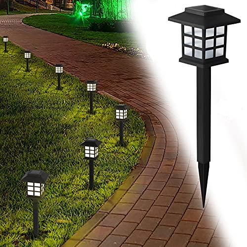 Landscape Lighting, 12 Pack Solar Pathway Lights Outdoor Garden, Waterproof Patio Lights for Yard, Walkway, Driveway, Lawn, Warm White