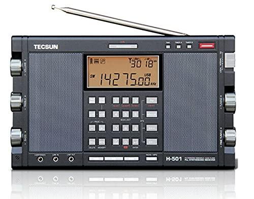 Tecsun H501 Digital Worldband AM/FM Shortwave Longwave Radio with SSB Reception, Dual Speakers, & MP3 Player, Matte Black