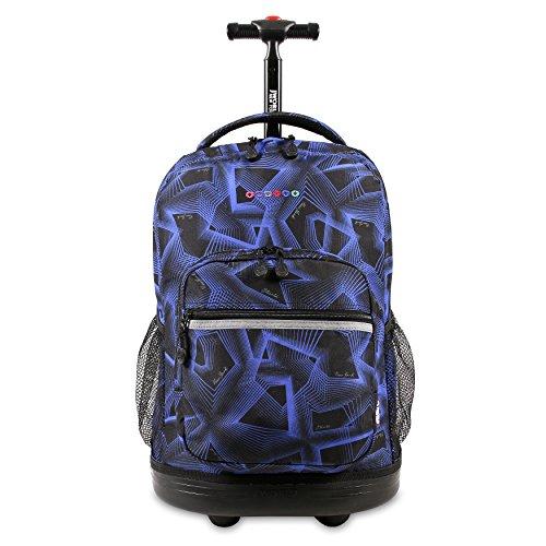 J World New York Sunrise Rolling Backpack, Disco