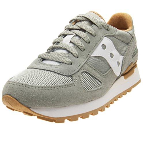Saucony Women's Shadow Original Running Shoe, green/white, 5.5 Medium US