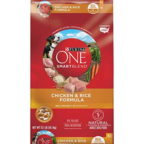 Purina ONE Natural Dog Food, SmartBlend Chicken and Rice Dog Food Formula - 31.1 lb. Bag