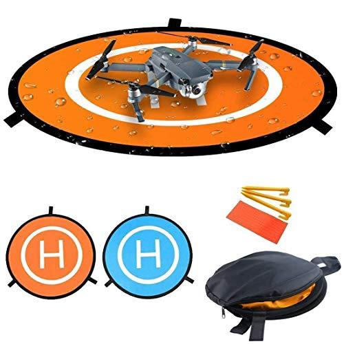 55cm Drones Landing Pad Waterproof Nylon Portable Parking Apron Landing Quadcopter Launch Pad Mini Helipad Dronepad for Mavic Pro DJI Phantom 3/4