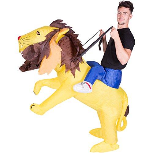 Bodysocks Adult Inflatable Lion Fancy Dress Costume
