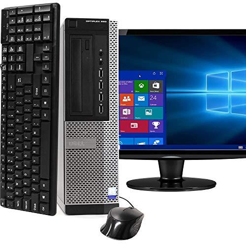 Dell Optiplex 990 Desktop PC Bundle with WiFi Adapter - Intel Quad Core i5 3.2GHz, 16GB RAM, 1TB HDD, DVD-RW, Windows 10 Pro, WiFi Adapter, 17 Inch LCD, Keyboard, Mouse (Renewed)