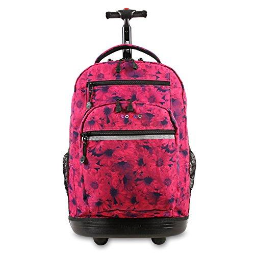 J World New York Sundance Laptop Rolling Backpack, Bellis, 19'