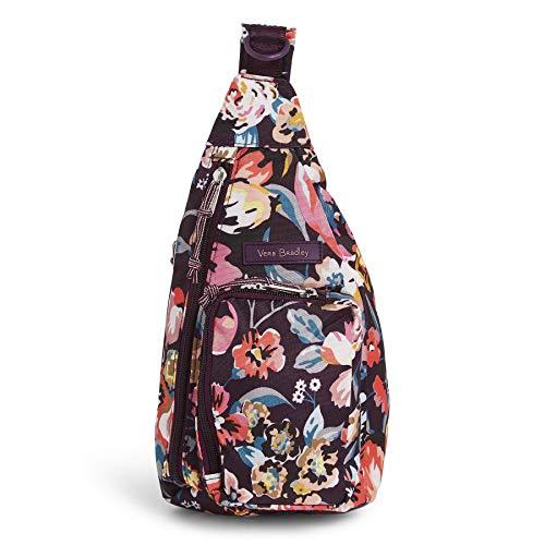 Vera Bradley Lighten Up Mini Sling Backpack, Indiana Blossoms