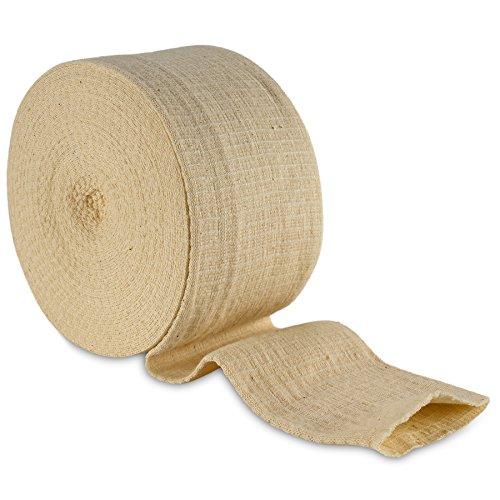 Elastic Tubular Support Bandage Size E, 10M Box - Natural Color (3.5' X 33 feet) for Large Knee Support Bandage -Medium Thigh, Cotton Spandex