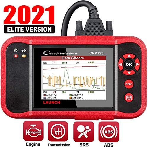 LAUNCH OBD2 Scanner CRP123 - 2021 Model Engine/ABS/SRS/Transmission Diagnostic Scan Tool SRS Code Reader,Free Update