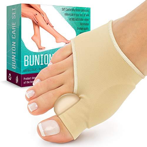 Orthopedic Bunion Splint - Bunion Corrector (2PCS) - Sleeve for Hallux Valgus Bunion Pain Relief - Non-Surgical Hallux Valgus Correction - Hammer Toe Straightener - Day Night Support