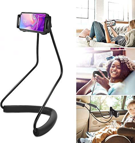 YUNLEJP Gooseneck Lazy Neck Phone Holder,Universal Mobile Phone Stand, Lazy Bracket, Flexible Mount Stand,Universal Mobile Phone Stand with Remote for Taking Videos & Group Photos (Black)