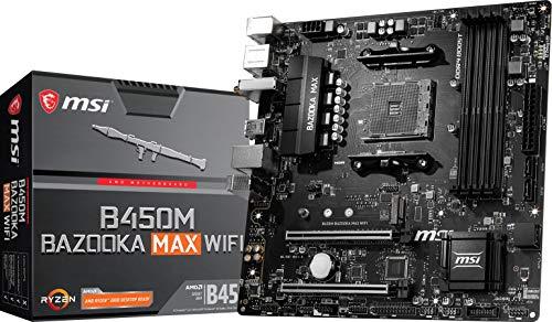 MSI Arsenal Gaming AMD Ryzen 1st, 2nd, and 3rd Gen AM4 M.2 USB 3.2 DDR4 HDMI WiFi Micro-ATX Motherboard (B450M Bazooka MAX WiFi)