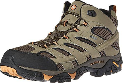 Merrell Men's Moab 2 Mid Gtx Hiking Boot, Walnut, 10 M US
