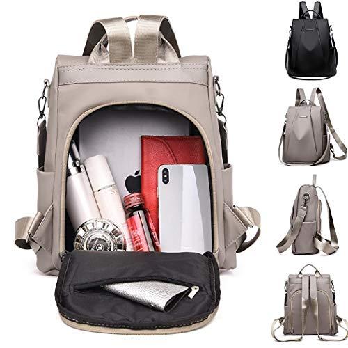 Fantastick Fashion Women Oxford Cloth Zipper Anti-Theft Travel Backpack