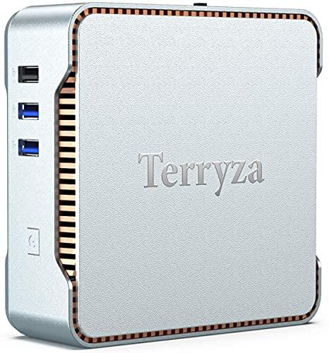 Te rry za Mini PC 4GB DDR3,64GB ROM,Intel Celeron N3350 Processor(Up to 2.4GHz) Mini Computer,Windows 10 Pro Desktop,4K HD 60Hz Triple Display,2.4G+5G Dual Band WiFi,Gigabit Ethernet,Bluetooth 4.2.