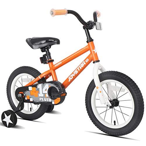 JOYSTAR 16' Pluto Kids Bike with Training Wheels for Ages 4 5 6 Year Old Boys & Girls, Orange