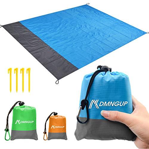 Sand Proof Beach Blanket, Oversized 82' X79' Beach Mat fits 6-7 Adults, Lightweight Waterproof Picnic Mat, Soft Sand Free Beach Mat Outdoor Compact Pocket Blanket for Travel, Hiking, Camping, Festival