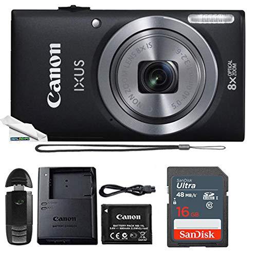Powershot Ixus 185 / ELPH 180 20MP Compact Digital Camera Black with 16GB Memory Card