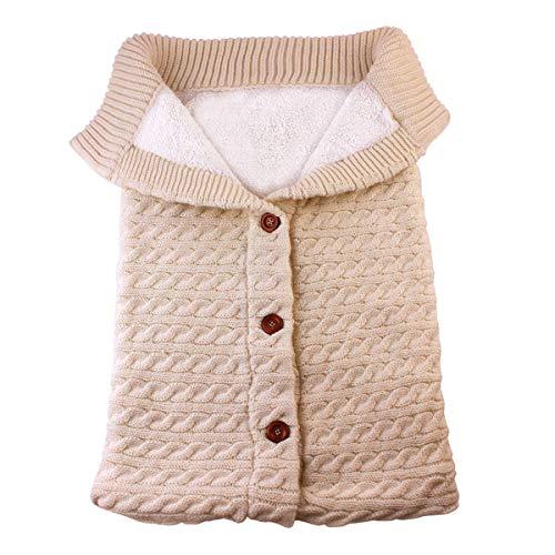 Newborn Baby Boy Girl Blanket,Unisex Swaddle Wrap Stroller Fleece Winter Warm Sleeping Bag Soft Knitted Photography Props Infant Sleep Sack