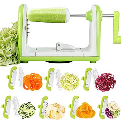 Vegetable Spiralizer 7 Blade Spiralizer Vegetable Slicer Spiral Slicer Zucchini Spaghetti Maker Zucchini Noodle Maker Veggie Spiralizer
