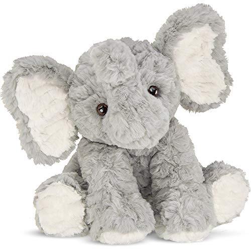 Bearington Dinky Plush Gray Elephant Stuffed Animal, 10.5 Inch