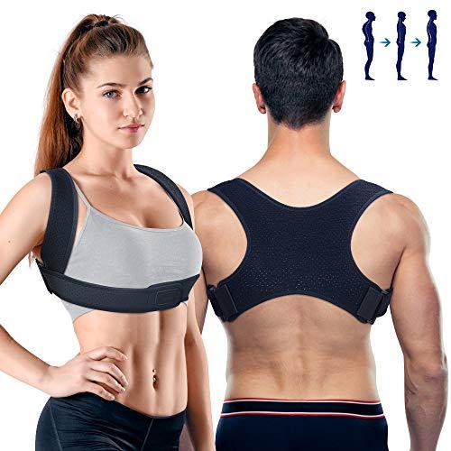 PORTHOLIC Posture Corrector for Men and Women 2 Mode Adjustable Upper Back Brace Posture Corrector for Clavicle Support Adjustable Back Straightener Pain Relief for Neck,Back and Shoulder