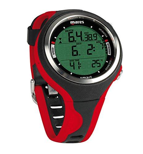 Mares Smart Wrist Dive Computer, Black/Red
