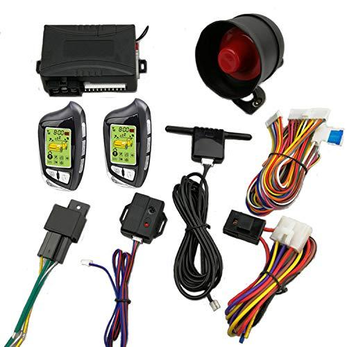 CarBest Vehicle Security Paging Car Alarm 2 Way LCD Sensor Remote Engine Start System Kit Automatic   Car Burglar Alarm System