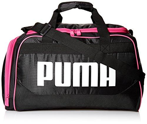 PUMA Women's Evercat Dispatch Duffel, black/pink, OS